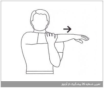 تمرین شماره 26 پیشگیری از آرتروز