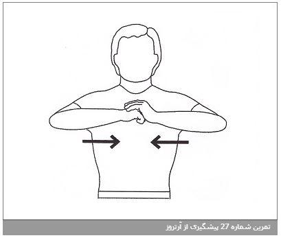 تمرین شماره 27 پیشگیری از آرتروز