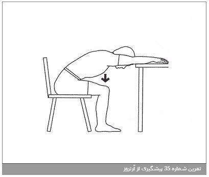 تمرین شماره 35 پیشگیری از آرتروز