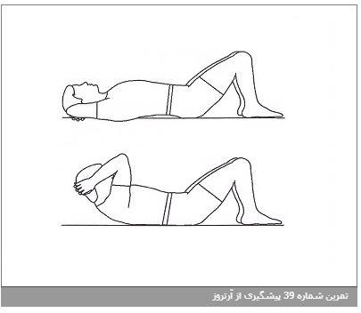 تمرین شماره 39 پیشگیری از آرتروز