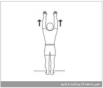 تمرین شماره 11 پیشگیری از آرتروز