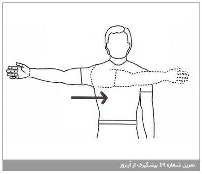 تمرین شماره 14 پیشگیری از آرتروز