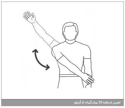 تمرین شماره 15 پیشگیری از آرتروز