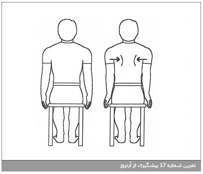تمرین شماره 17 پیشگیری از آرتروز
